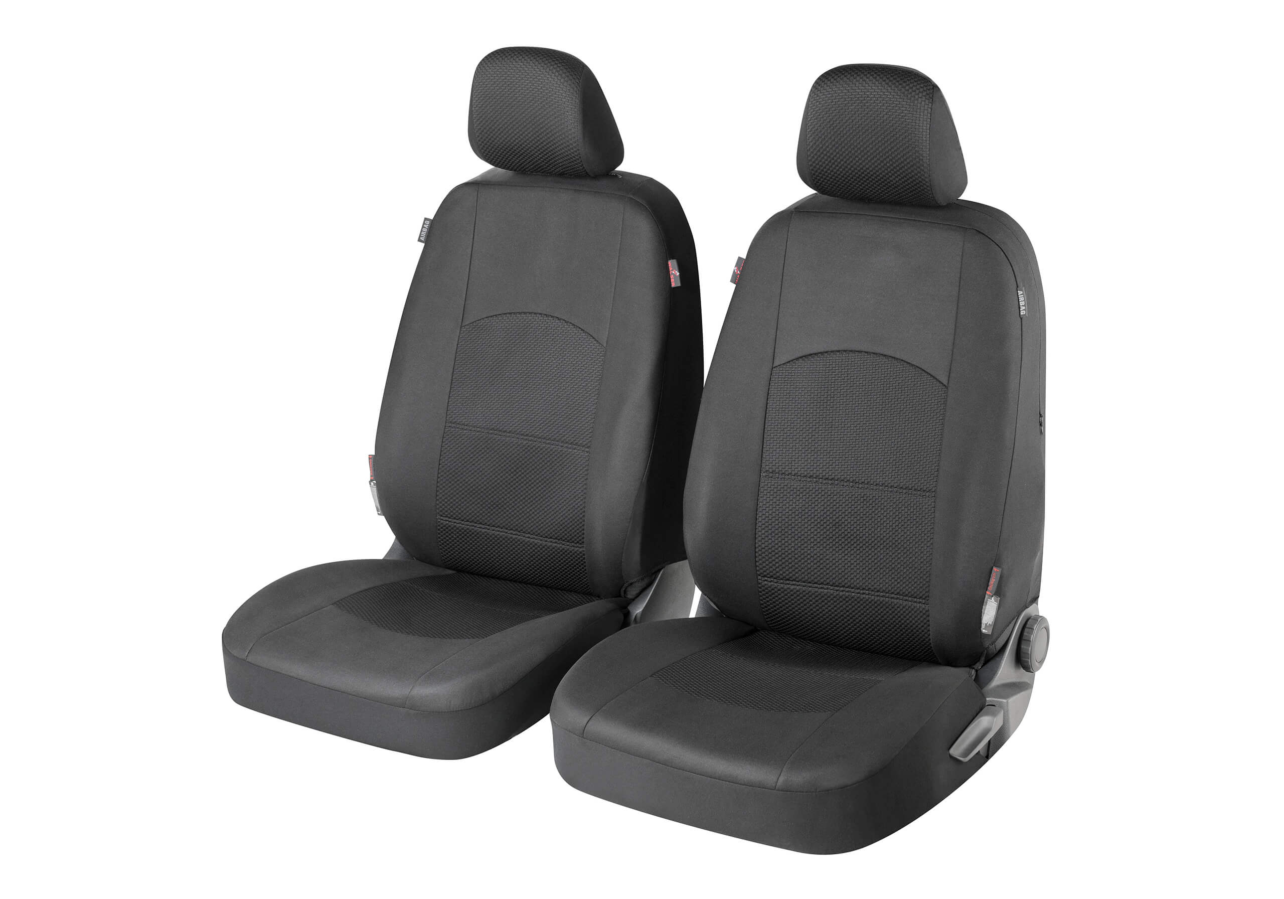 Honda Civic five door (2017 onwards):Walser ZIPP-IT seat covers, front seats only,  Derby black, 11846